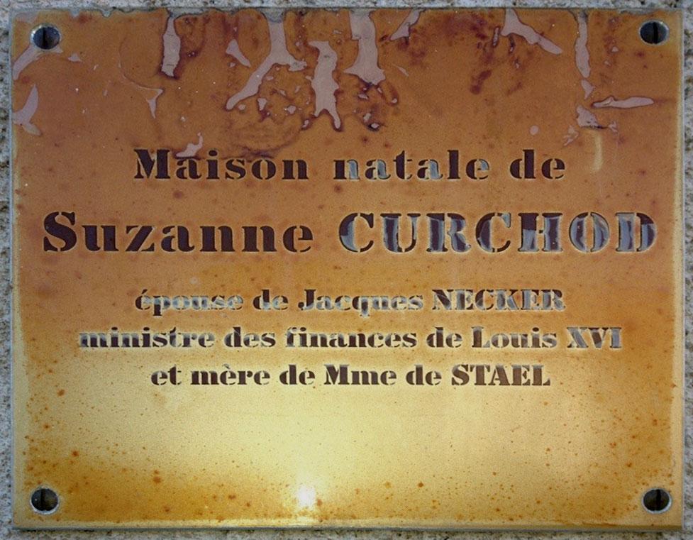 Мемориальная доска на доме в Крассье (фотография автора)