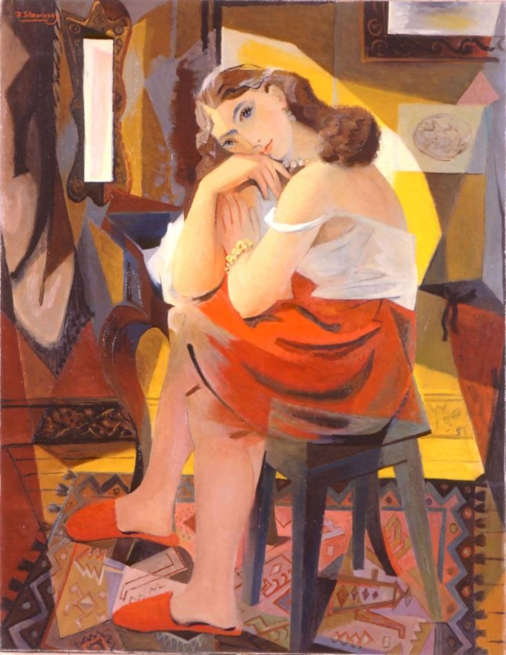 Сидящая женщина. 1944-1954 гг. (Фонд Федора Стравинского)