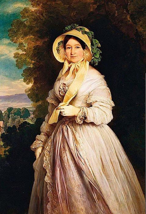 Франц Ксавер Винтерхальтер. Портрет Великой княгини Анны Федоровны, 1848 г. (в период ее жизни в Женеве)