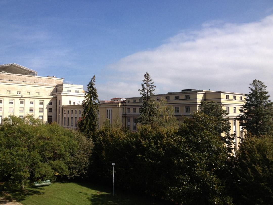Вид на ООН с балкона виллы Ариана