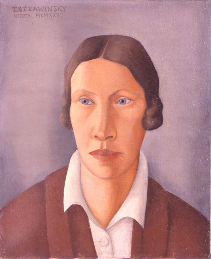Портрет Екатерины Стравинской 1925 г. (Фонд Федора Стравинского)