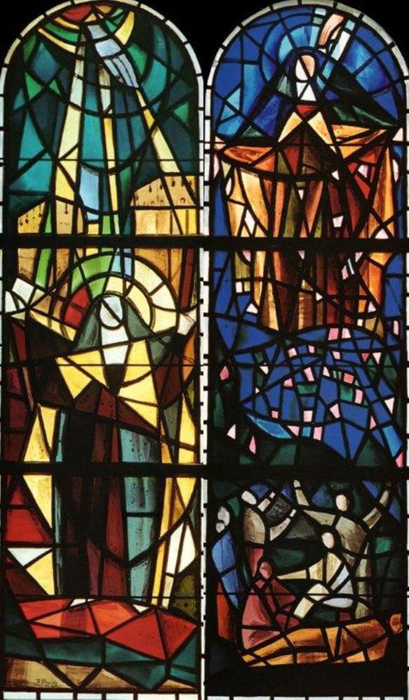 Витражи церкви Святой Терезы в Женеве. 1964 г. (Фонд Федора Стравинского)